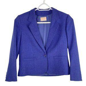 Vintage Pendelton Blue Virgin Wool Blazer 12